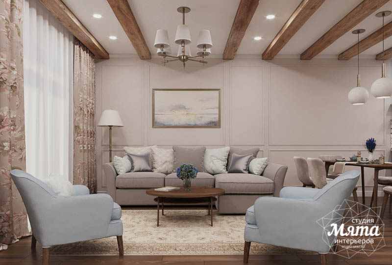 Дизайн интерьера первого этажа таунхауса в п. Палникс img1672765991