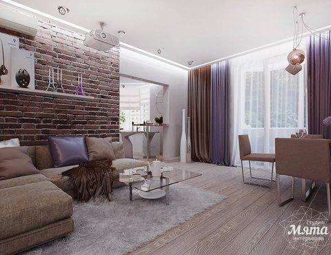Дизайн интерьера двухкомнатной квартиры по ул. Малышева 38